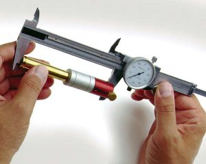 A dial caliper is an important tool for reloading ammunition