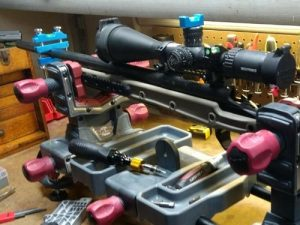 Using the Tough Tactical Tools Professional Scope Leveling System on my rifle