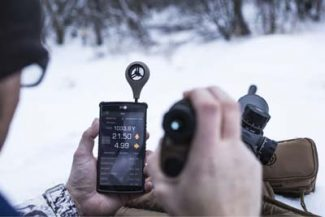Sig Sauer KILO2400ABS can interface with smartphone via bluetooth for wind calls