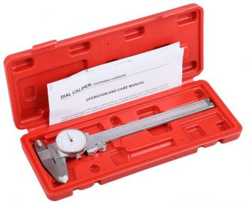 Accusize Industrial Tools P920-S236 Precision Stainless Steel Dial Caliper with fitted plastic case