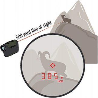 Vortex Optics Razor HD 4000 Laser Rangefinder calculates slope angle for corrected distance to target