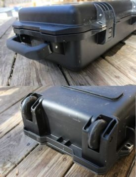 hard rifle case with handle and wheels