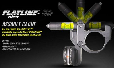 Flatline-Ops Sniper Accu Level Articulating Scope Level and Military Spec ADI Angle Degree Indicator Combo