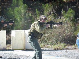 shep demonstrating combat carbine technique
