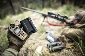 Leica CRF Rangemaster 2800.COM with kestrel weather ballistic meter fit in the palm of your hand